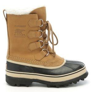 Sorel Caribou Fleece Nubuck Snow Boots Waterproof
